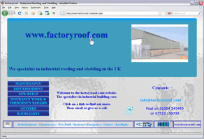 Featured site - factoryroof.com - Click to open.